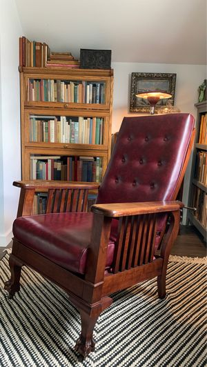 Antique Clawfoot Mahogany Morris Chair for Sale in Portland, OR