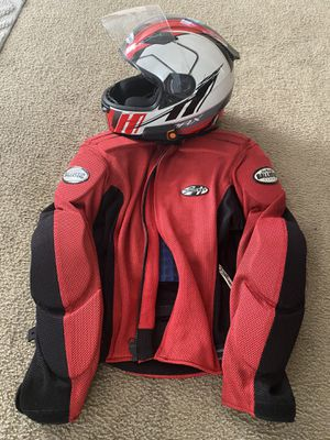 Motorcycle Helmet (w/ Bluetooth) and Jacket combo for Sale in NEW PRT RCHY, FL
