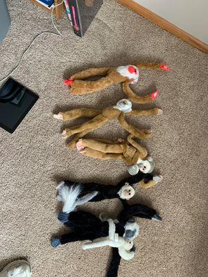 Like *NEW* stuffed Monkeys (7) for Sale in Lake Hallie, WI