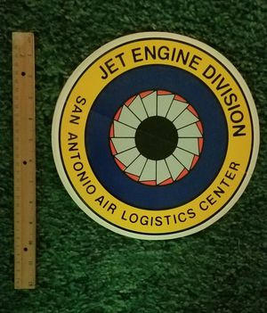 SA ALC JET ENGINE Division Sticker for Sale in San Antonio, TX