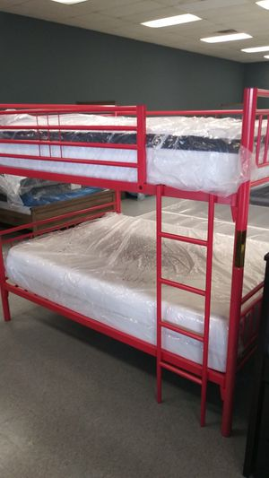 Full bunk bed frame only mattress not included for Sale in Columbus, OH