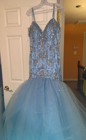 Magnificent baby blue long prom dress for Sale in Dumfries, VA
