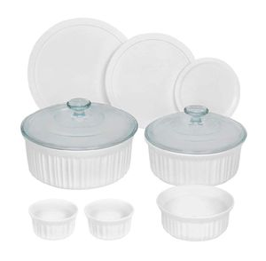 CorningWare French White Round Bakeware Set (10-Piece, White) for Sale in Los Angeles, CA