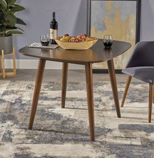 Modern Square Wood Dining Table, Walnut Finish for Sale in Riverside, CA