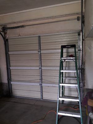 """Steel garage door 8'2""""Wide x 7 feet tall for Sale in Salt Lake City, UT"""