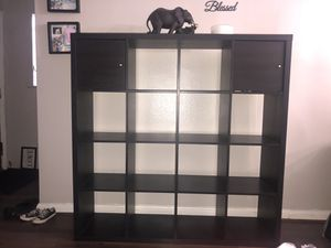 KALLAX shelf with 2 door inserts for Sale in Silver Spring, MD
