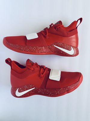 Nike PG 2.5 TB University Red White Paul George Shoes BQ8454-600 Mens SIZE 13.5 for Sale in Rialto, CA