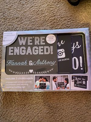Wedding Chalk Board set (3) for Sale in Brentwood, NC