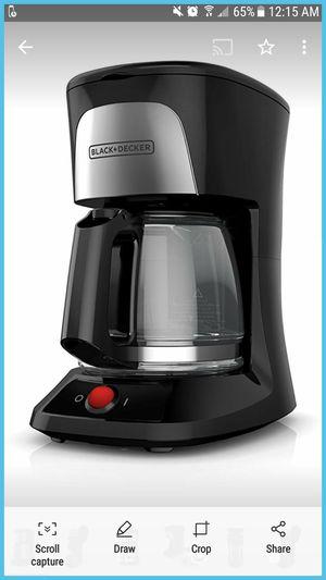 Black+Decker 5 cup coffee maker for Sale in Atlanta, GA