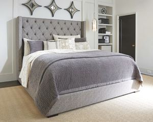 Sorinella Upholstered Queen Bed - mattress and box spring included for Sale in Killeen, TX
