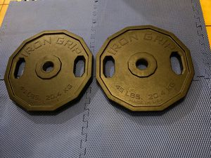 A pair of 45lbs Olympic size weight plates 🇺🇸 for Sale in Los Angeles, CA
