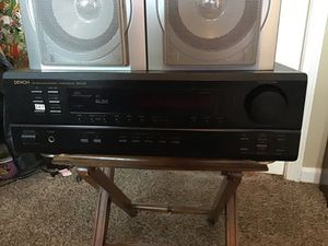 Denon surround sound system with 4 Yamaha 150 watt speakers and two sharp 160 watt for Sale in Nashville, TN