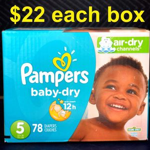Pampers Baby Dry Size 5 for Sale in Paramount, CA