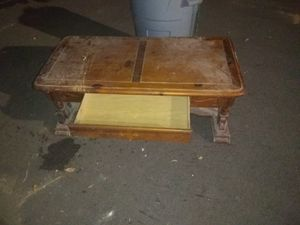 Wooden coffee table with drawer for Sale in Stapleton, AL