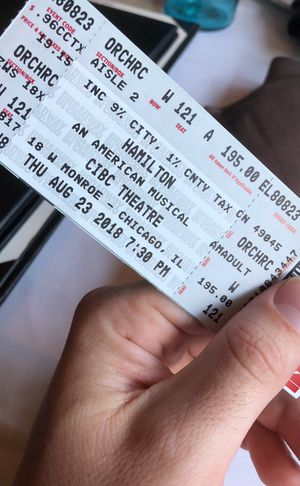 1 Hamilton Orchestra Section Ticket August 23rd for Sale in Chicago, IL