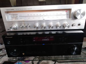 Antique realistic receiver works perfect plus pioneer HDMI receiver works perfect for Sale in Detroit, MI