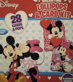 Kids 28 Valentine Cards With Lollipops for Sale in San Angelo,  TX