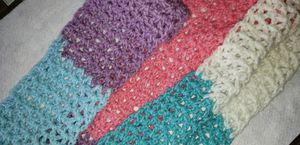 Hand crocheted pastel multicolored scarf for Sale in Benton, KY
