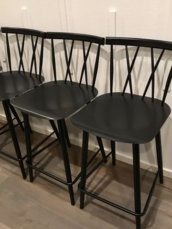 BRAND NEW Modern Black Metal Counter Top Stools 4 Piece ! Open Box ! for Sale in Vancouver,  WA