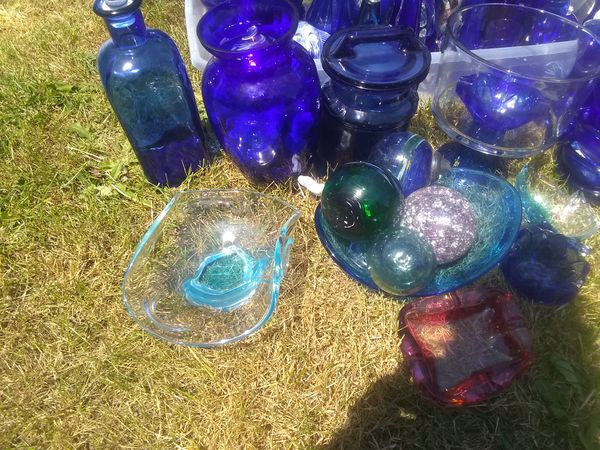 Beautiful Blue glass most antique