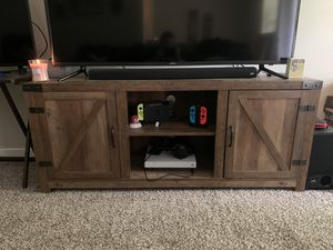 Manor Park Modern Farmhouse barn door TV stand for Sale in Federal Way, WA