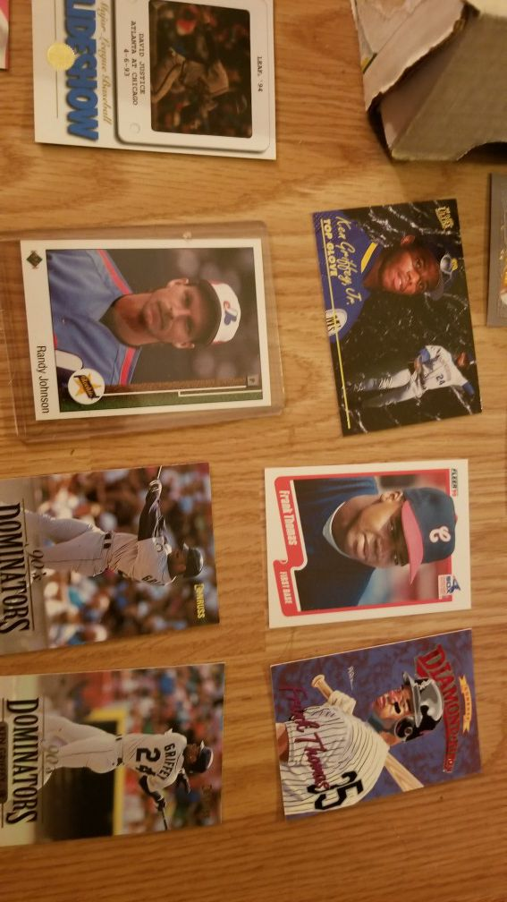 100,000 baseball cards, some football and few basketball cards. multiple ken griffey jr rookies, Jeter, etc...