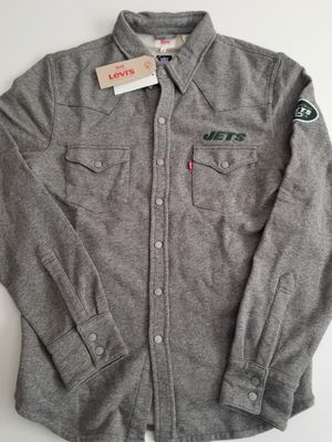 Levis NFL New York Jets Western Button Up Shirt Jacket Men's Gray for Sale in San Diego, CA