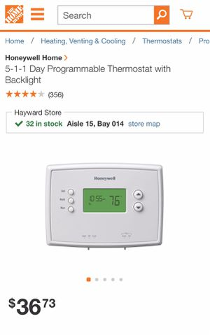 Honeywell programmable Thermostat for Sale in San Leandro, CA