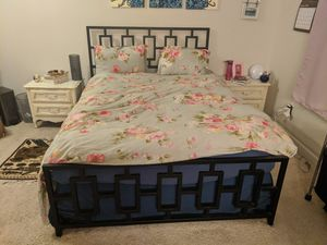 Chic modern queen bed frame for Sale in Raleigh, NC