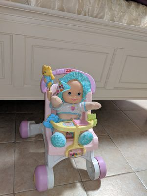 Fisher Price Walker Stroller & Noise Making Doll for Sale in NJ, US