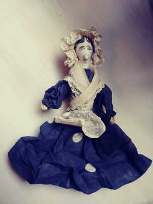 Folk Art Doll Made from Clay Pipe for Sale in Phoenix, AZ