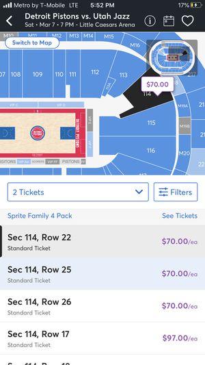 Piston tickets for Sale in Pontiac, MI