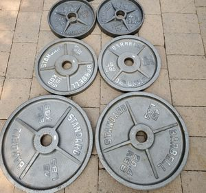 210lbs Olympic weight plates for Sale in Phoenix, AZ