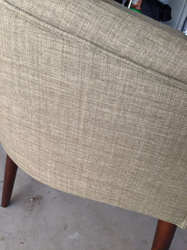 Green Tweed Tub Accent Chair