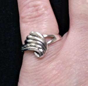 Silver Plated Swirl Ring Sizes 6 and 7 for Sale in Whittier, CA