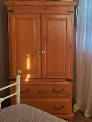Wood armoire and nightstand for Sale in North County, MO