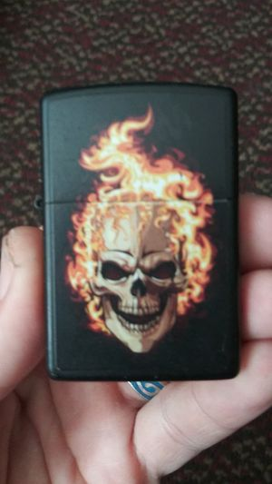 Zippo skull and flames new for Sale in Orlando, FL