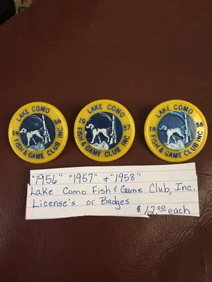Lake Como Fish & Game Club Badges for Sale in Greer, SC