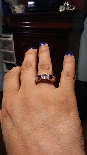 Diamond and blue gem ring for Sale in Albuquerque, NM