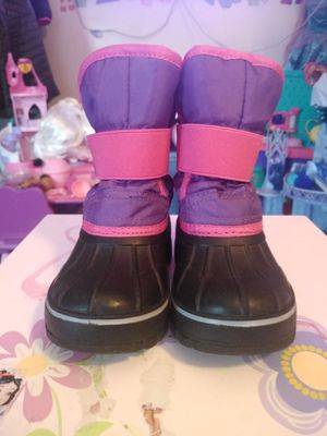 LILY & DAN Girls Toddler Winter Snow Boots Pink Purple Size 7/8 Toddler like new for Sale in Hartford, CT