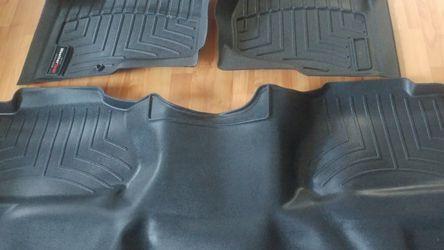 2008-2013 SILVERADO SIERRA DENALI CREW CAB BLACK WEATHERTECH FLOOR LINERS 5.3 V8 6.0 4X4 2WD LS LT LTZ SL SLE SLT for Sale in Naperville,  IL