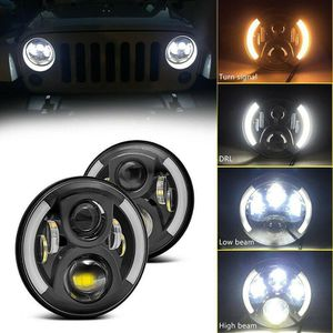 "Firebug Jeep 7"" Wrangler LED Headlights, Halo Angel Eyes Headlights JK, 07-2016 for Sale in Riverside, CA"