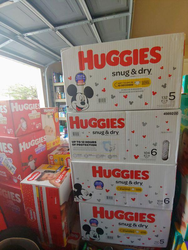 Huggies snug & dry. $30 each.