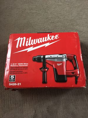 Milwaukee 1-3/4 SDS MAX rotary hammer drill corded for Sale in Lemont, IL