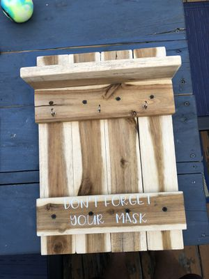 Custom mask holder made from recycled pallets for Sale in Fieldsboro, NJ