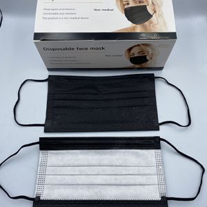 Adult Black Disposable Face Mask — 50 pc for Sale in Downey, CA