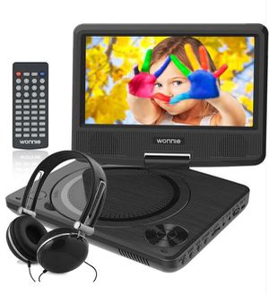 7.5 Inch Portable DVD Player with Swivel Screen, USB / SD Slot and 4 Hours Rechargeable Battery, Perfect Gift for Kids ( Black ) for Sale in Alhambra, CA
