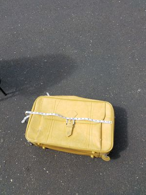 Vintage yellow suitcase for Sale in Fairview, OR