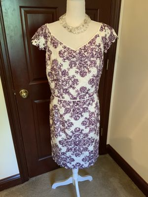 Purple & White Lace Dress. Sz. 16 NWT for Sale in Urbana, OH