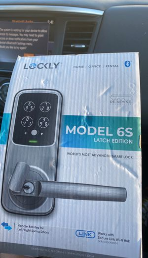 LOCKLY ; HOME | OFFICE | RENTAL / MODEL 6S LATCH EDITION ; World's Most Advanced Smart Lock for Sale in Meriden, CT